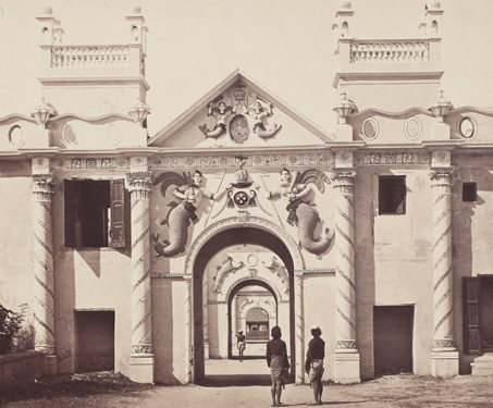 The Mermaid Gate, Qaisarbagh, Lucknow - Awadh, Awadhi Architecture, Lucknow, Nawab, Samuel Bourne, Wajid Ali Shah