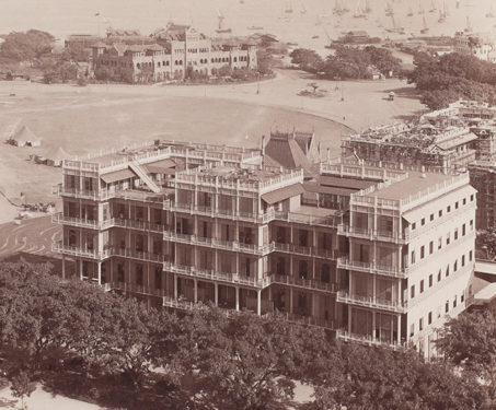 View of the Watson's Hotel or Esplanade Mansion, Bombay - Architecture, Bombay Presidency, Mumbai