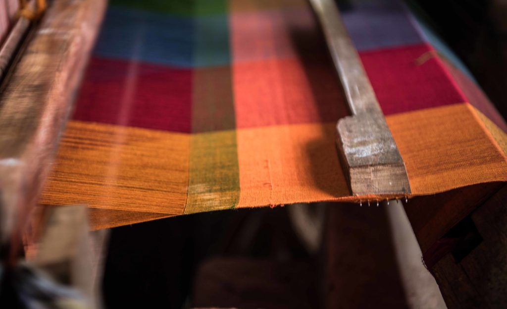 Kandangi saree on the loom