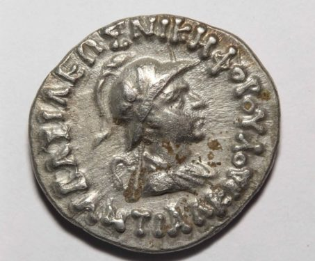 Antialcidas, Silver Drachm of Bactria Mint - Ancient India, Bactria, Indo -Greek, Silver Coin, Taxila, Zeus