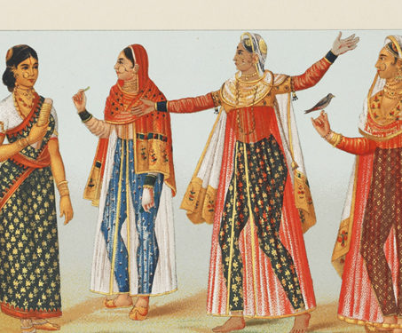 Woman from a Sonar (jeweller) community from Gujarat and Nautch Girls belonging to the Visnu sect - Dance, Dancers & Costumes, Lithographs