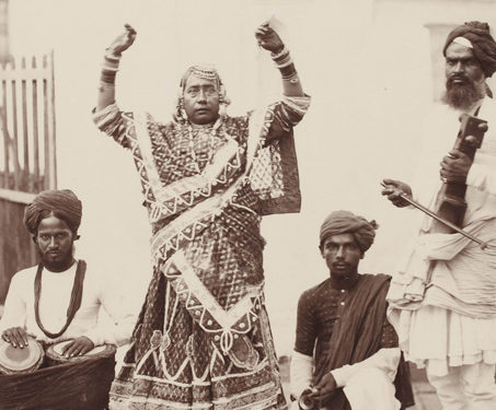 Dancer and Musicians, Bombay - 19th Century Photography, Bombay, Dance, Eugene Auguste Taurines, photography