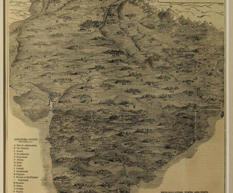 Map of India, 1857 - 1857 Uprising