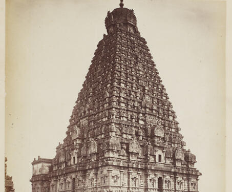 Great Pagoda of the Brihadishwara Temple, Tanjore -  Pagoda, 11th century, Chola, Samuel Bourne, South India, Tanjore, Temple Architecture