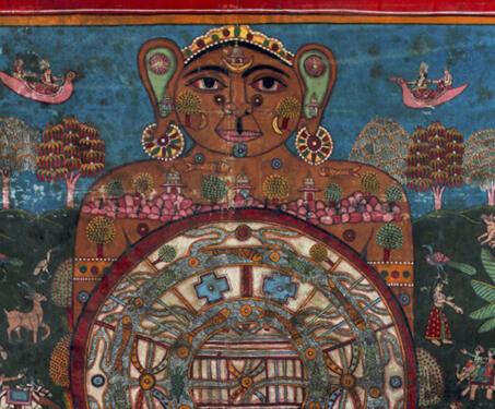 Lokapurusha - Cosmogram, Jainism, Map