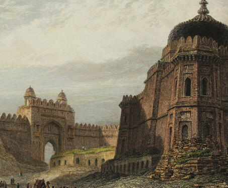 The North Gate—Old, Delhi - Delhi, Delhi Fort, Thomas Daniell, William Daniell