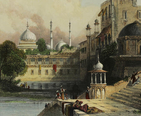 Baoli and remains of Jehangir's palace, Delhi - Baoli, Delhi, Mughal