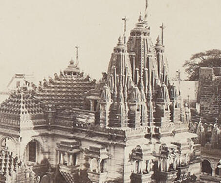 A General view of Palitana - 12th century, 19th Century Photography, Edmund David Lyon, Gujarat, Jain temple, Jainism