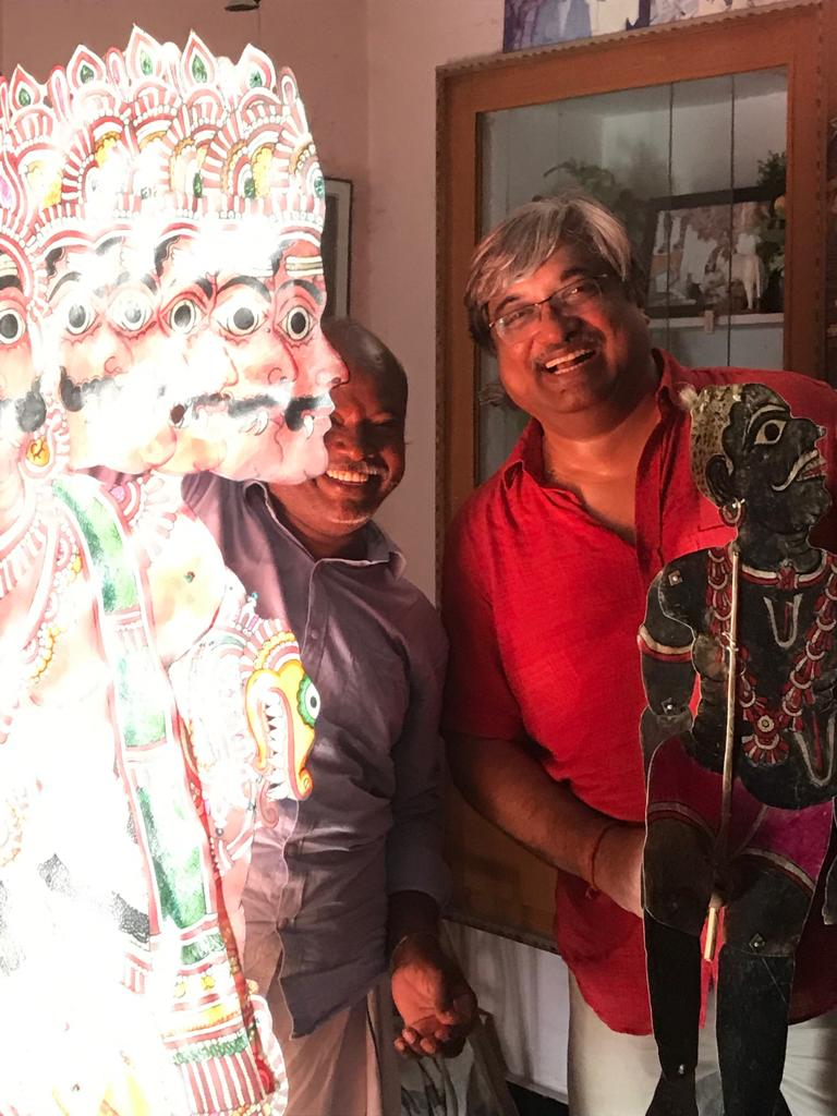 """""""If we lose our diversity, we lose our soul"""" - Leather puppets, Paul Abraham, Puppetry, S Chidambara Rao, Shadow Puppets, tholu bommalaata"""