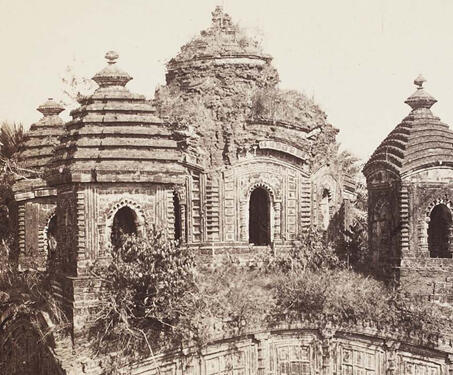 Shyam Rai Temple, Bishnupur - 17th century, 19th Century Photography, Bengal, Bengal Presidency, Temple, Temple Architecture, Terracotta Temples