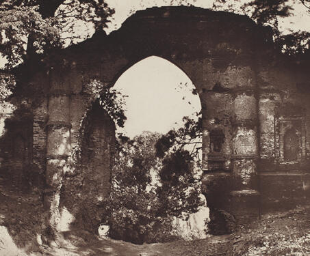 Kotwali Gate, Gaur - 19th Century Photography, Bengal Presidency, Bengal Sultanate, Gaur, Medieval Architecture, monuments
