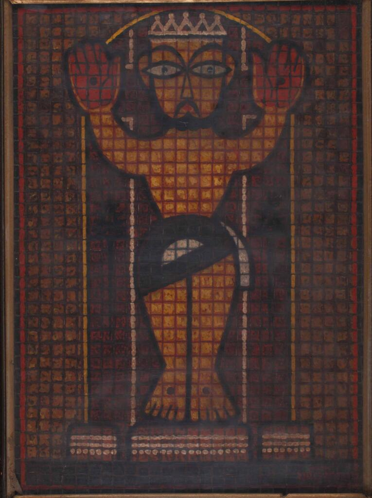 Jamini Roy painting of Jesus crucified