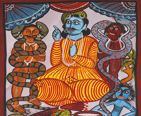 Pattachitra: Yampat scroll - Bengal Pattachitra, Bengal Patua, Chitrakars, Folk Art, Gods & Goddesses, Indian Mythology, West Bengal