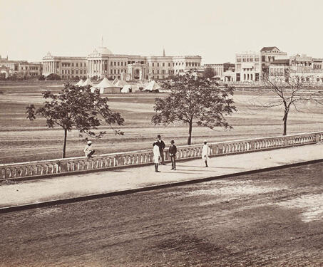 Esplanade and Government House, Calcutta - 19th Century Photography, Bengal Presidency, British India, Calcutta, Colonial Architecture, East India Company, Fort William, Lal Dighi, Neo-classical, Samuel Bourne