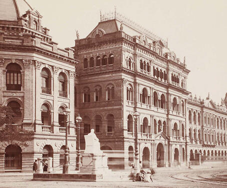 Writers' Building, Calcutta - Bengal Presidency, British India, Calcutta, Colonial Architecture, East India Company, Fort William, Independence Movement, Lal Dighi, Neo-classical