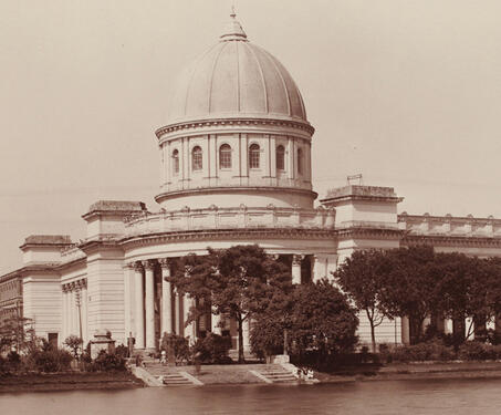 The General Post Office, Calcutta - 19th Century Photography, Bengal Presidency, British India, Calcutta, Colonial Architecture, East India Company, Fort William, Lal Dighi, Neo-classical, Walter L. B Granville