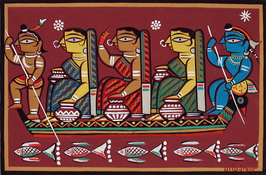 Jamini Roy painting from Krishna's epic