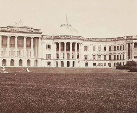 Government House south front, Calcutta - 19th Century Photography, Bengal, Bengal Presidency, Calcutta, Samuel Bourne