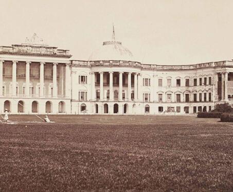 Government House south front, Calcutta - Samuel Bourne