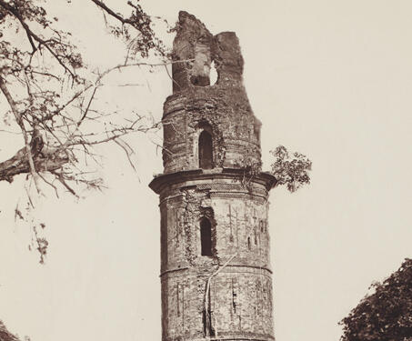 Firoz Minar, Gaur - 19th Century Photography, Bengal, Bengal Presidency, Bengal Sultanate, Gaur, Medieval Architecture, monuments