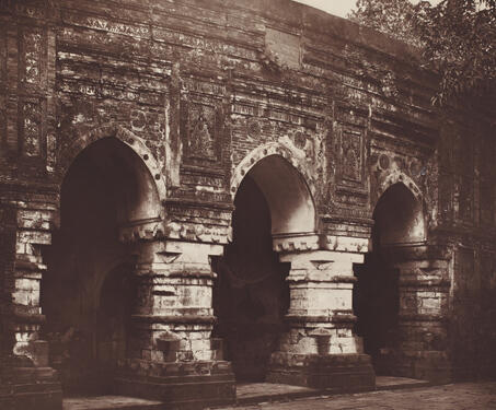 Qadam Rasul Mosque, Gaur - 19th Century Photography, Bengal, Bengal Presidency, Bengal Sultanate, Gaur, Medieval Architecture, monuments
