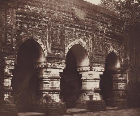 Qadam Rasul Mosque, Gaur - 19th Century Photography, Bengal, Bengal Presidency, Bengal Sultanate, Gaur, Medieval Architecture, monuments