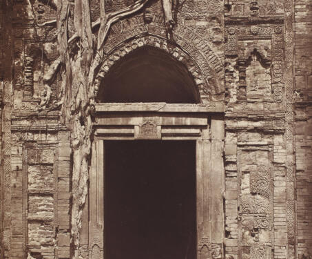 Entrance To Eklakhi Mosque, Gaur - 19th Century Photography, Bengal, Bengal Presidency, Bengal Sultanate, Gaur, Medieval Architecture, monuments
