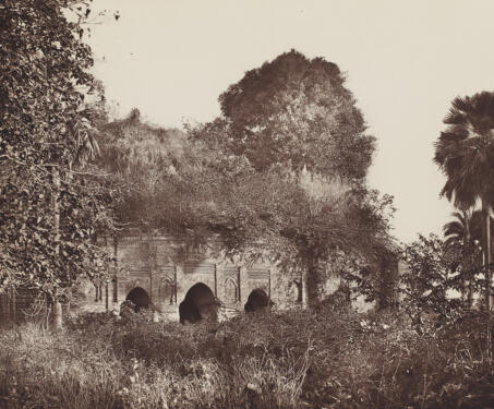 Lattan or Painted Mosque, Gaur - 19th Century Photography, Bengal, Bengal Presidency, Bengal Sultanate, Gaur, Medieval Architecture, monuments