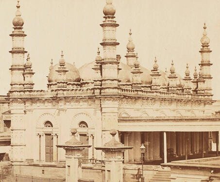 Tipu Sultan Mosque, Calcutta - 19th Century Photography, Architecture, Bengal, Bengal Presidency, Calcutta, Islamic Monuments, Mosques, Tipu Sultan