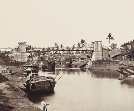 Kali Ghat, Calcutta - 19th Century Photography, Bengal, Bengal Presidency, Calcutta, Ghats, Kalighat, Patuas, Samuel Bourne, Temple, West Bengal