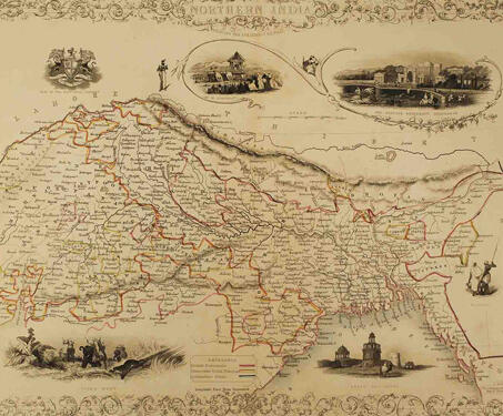 Northern India including the Presidency of Calcutta - 19th century, Bengal, Bengal Presidency, British Raj, Calcutta, Colonial India, Colonialism, Indian history, Maps