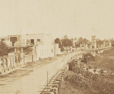 Strand Promenade, Chandernagore (Chandannagar) - Bengal Presidency