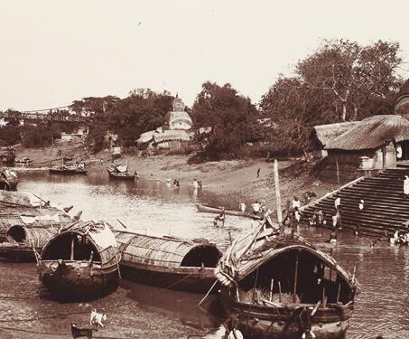 View of the Kali Ghat, Calcutta - Samuel Bourne