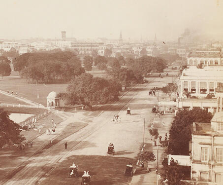 View of the Maidan, Calcutta - Bengal Presidency, British Raj, Calcutta, Colonial Architecture, Colonial India, East India Company, photography, Street View