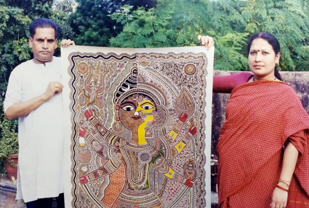 Sarmaya presents 'Madhubani – Art from a Sacred Land' - Bihar, featured, Jagdamba Devi, Jitwarpur, Jyoti Karn, Madhubani, Mithila, Moti Karn, Natural Dyes, Satyanarayan Karn