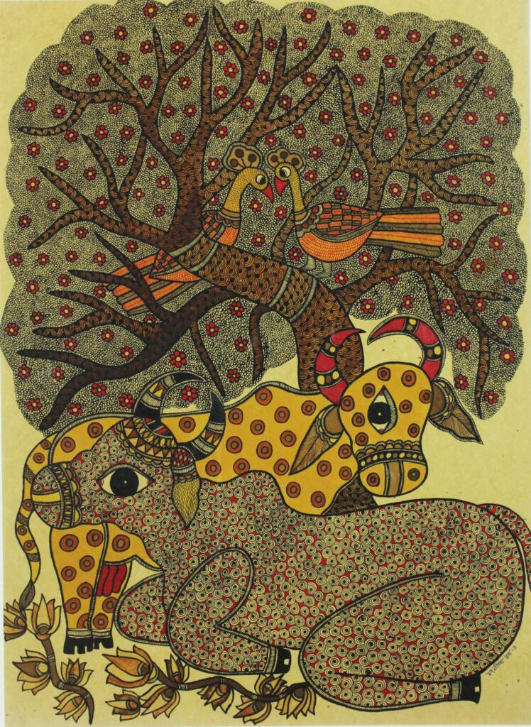 The Walls Have Eyes: The discovery and evolution of Mithila art - art history, Baua Devi, Bihar, Dulari Devi, featured, Folk and Indigenous Art, Indian Mythology, Madhubani, Manisha Jha, Mithila