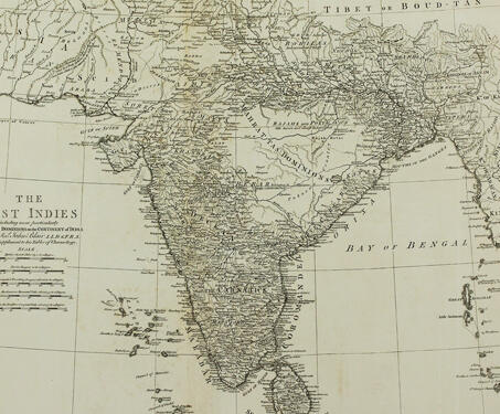 The East Indies including more particularly The British Dominions on the Continent of India - 18th century India, British East India Company, British Raj, Cartography, Colonialism, Indian maps, Maps