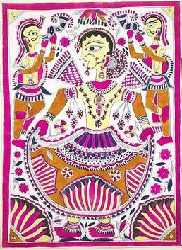 Ulterior Motifs – Icons & Symbols That Define Madhubani Art - Bihar, Brahmin, Buddhism, Caste, Dalit, featured, Gobar, Godna, Gods & Goddesses, Hinduism, Kayashta, Madhubani, Mithila, Motifs, Natural Dyes, Nature, Poetry & Nature
