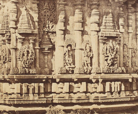 Detached building in the Court, Belloor (Chennakeshava Temple, Belur) - 19th Century Photography, Hoysala, Karnataka, Sacred Spaces, Temple Architecture, Vishnu