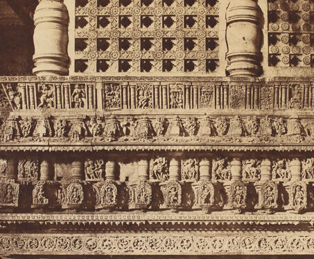 Detail, Temple at Belloor (Chennakeshava Temple, Belur) - 19th Century Photography, Hoysala, Karnataka, Sacred Spaces, Temple Architecture, Vishnu