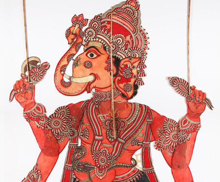 Ganapathi - Ganesha, Gods and Goddesses, Indian Mythology, Puppetry, S Chithambara Rao, Shadow Puppets, tholu bommalaata