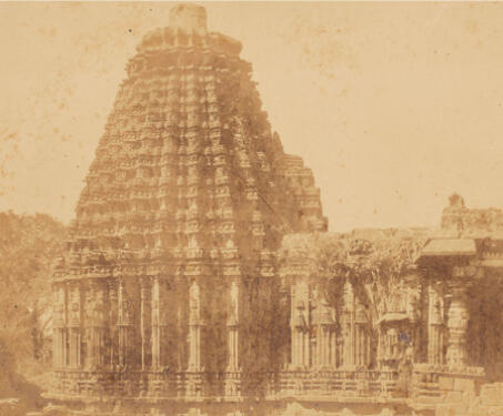 Jain Temple, Guduk (Doddabasappa Temple, Gadag) - 19th Century Photography, Art, Chalukya, Hoysala, Karnataka, Sacred Spaces, Shiva, Temple Architecture