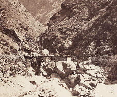 Junction of the Wanga and Sutlej Rivers - 19th Century Photography, British India, Himalayas, Samuel Bourne