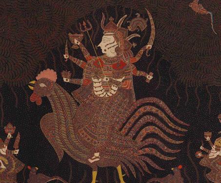 Mata-ni-Pachedi: Bahuchara Mata - Ahemdabad, Block Printing, Gods & Goddesses, Gujarat, Mata ni Pachedi, Natural Dyes, Sanjay Chitara, textile