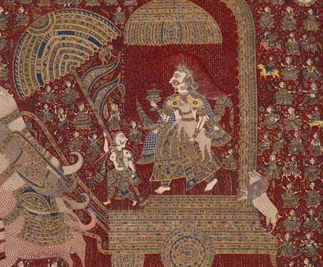 Mata-ni-Pachedi: Hadkai Mata - Ahemdabad, Block Printing, Gods & Goddesses, Gujarat, Mata ni Pachedi, Natural Dyes, Sanjay Chitara, textile