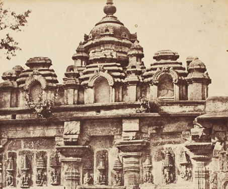 Nachyar Temple in the Court, Temple at Belloor (Andal Temple, Belur Complex) - 19th Century Photography, Andal, Hoysala, Karnataka, Sacred Spaces, Temple Architecture, Vijayanagara Empire