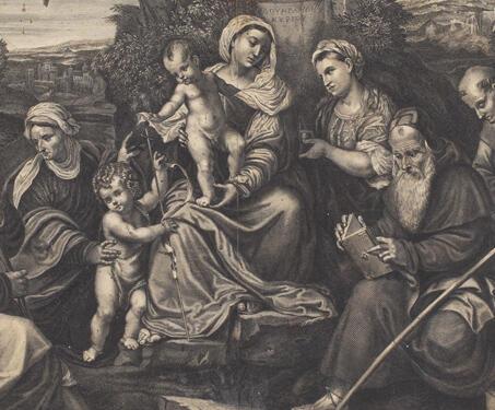 Sainte Famille De Iesus Christ ( Sacra Christi Familia) - 17th century, Christian Art, Christianity, Jesus Christ