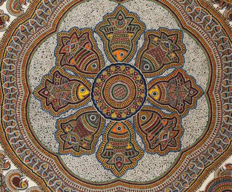 Madhubani - Bihar, Folk and Indigenous Art, Jyoti Karn, Madhubani, Mithila, Moti Karn, Natural Dyes, Poetry & Nature, Satyanarayan Karn