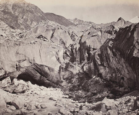 Source of the Ganges, Ice cave at the foot of the Glacier - 19th Century Photography, British India, Ganga, Himalayas, Samuel Bourne, Travelogue