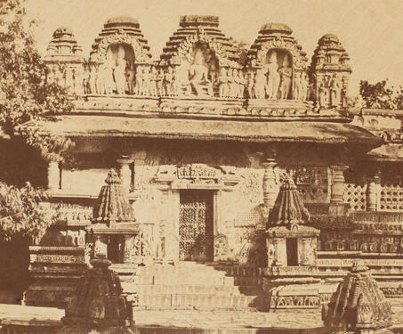Temple, Belloor (Chennakeshava Temple, Belur) - 19th Century Photography, Hoysala, Karnataka, Sacred Spaces, Temple Architecture, Vishnu